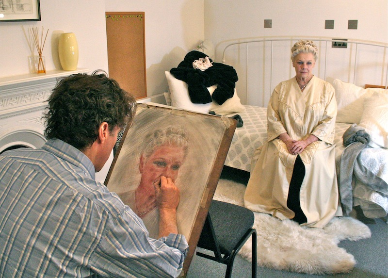 Alexander Newley painting Dame Judi Dench