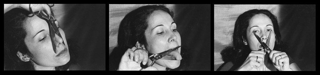 Anna Maria Maiolino E? o que sobra, da se?rie Fotopoemac?a?o (What is Left Over, from the series Photopoemaction) 1974 Photo: Max Nauenberg Courtesy the artist