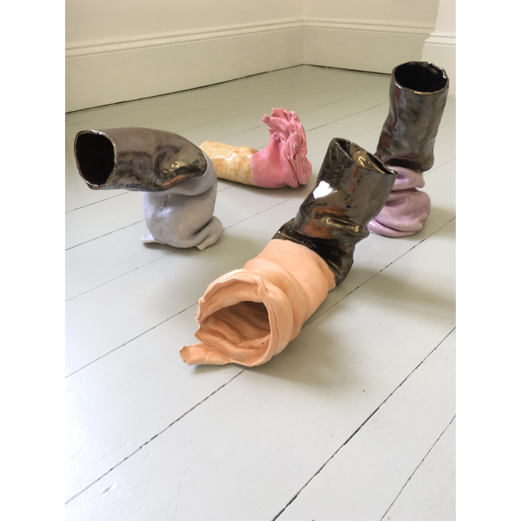 Untitled (Fags) (2019), Glazed ceramic, Dimensions variable, Sandra Lane