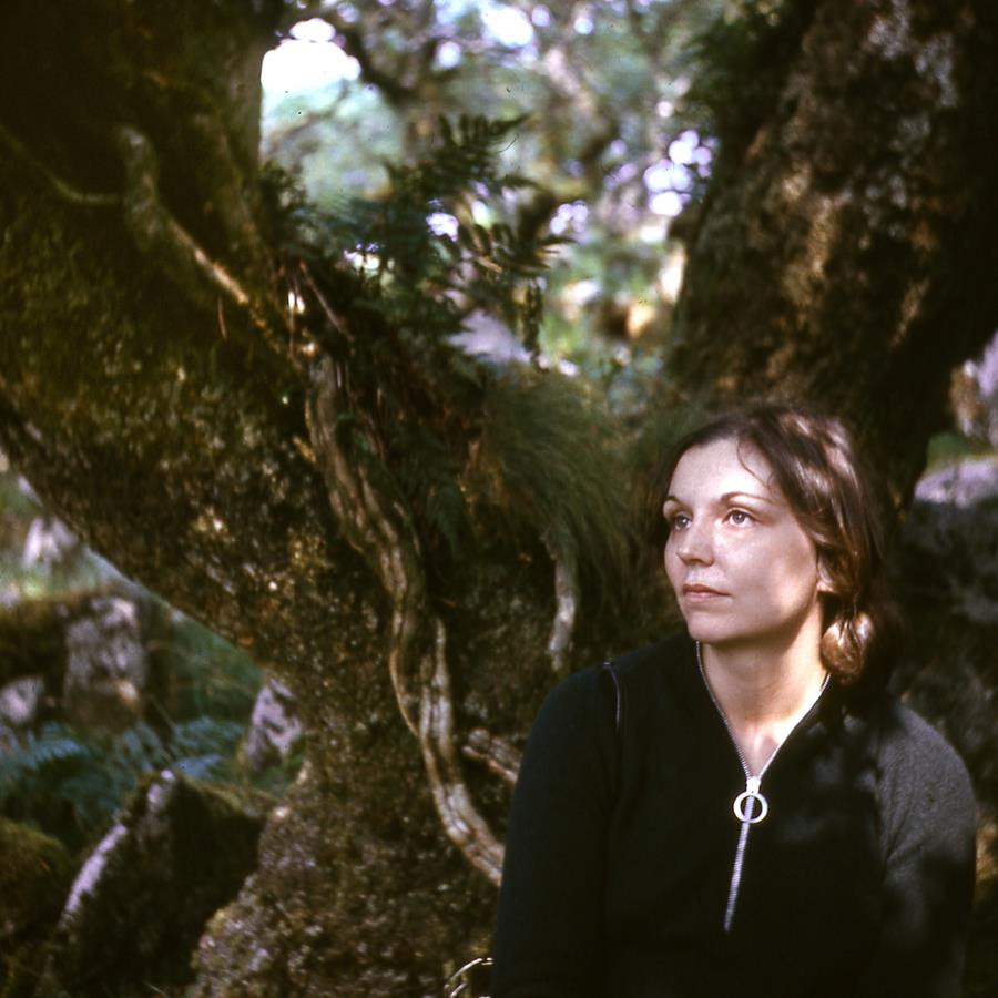 Nancy Holt at Wistman's Wood, Dartmoor National Park, UK, 1969 Photograph: Robert Smithson © Holt/Smithson Foundation, Licensed by VAGA at ARS, New York