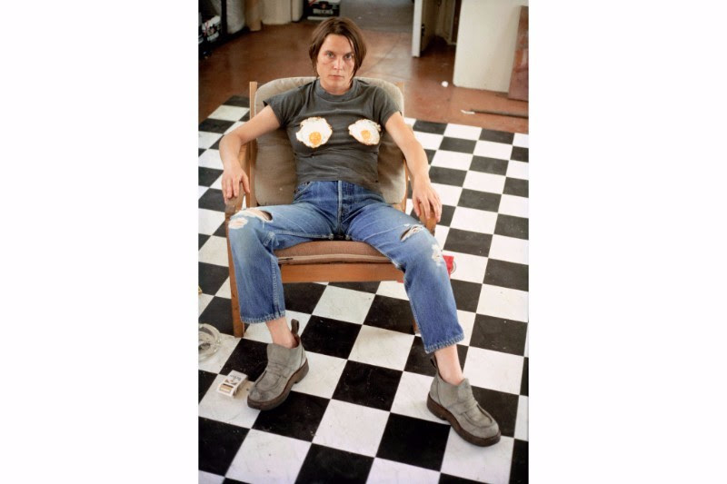 Sarah Lucas, Self-Portrait with Fried Eggs, 1996. C-print, 59 1/2 x 40 1/2 in (151 x 103 cm). Courtesy the artist; Sadie Coles HQ, London; and Gladstone Gallery, New York and Brussels