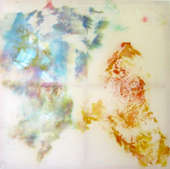 Image: Nick Jeffrey, 'Neon Dye Rust' (2013), ink and bleach on canvas, 170 x 170cm