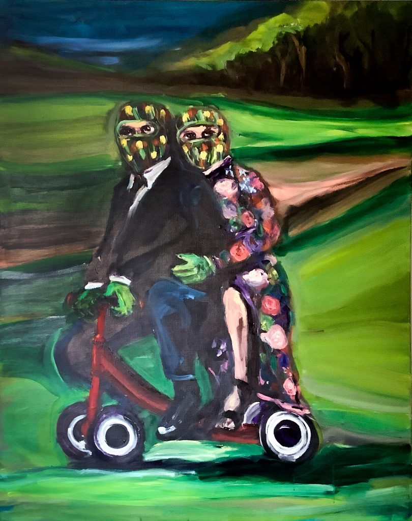 "Yassine Balbzioui ""Mystery Ride"" (145 x 115 cm / 57 1/8 x 45 1/4in) FAD magazine"