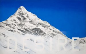 Ed Ruscha, Desire, 2013, acryclic on canvas, 50 × 80 inches (127 × 203.2 cm) © Ed Ruscha