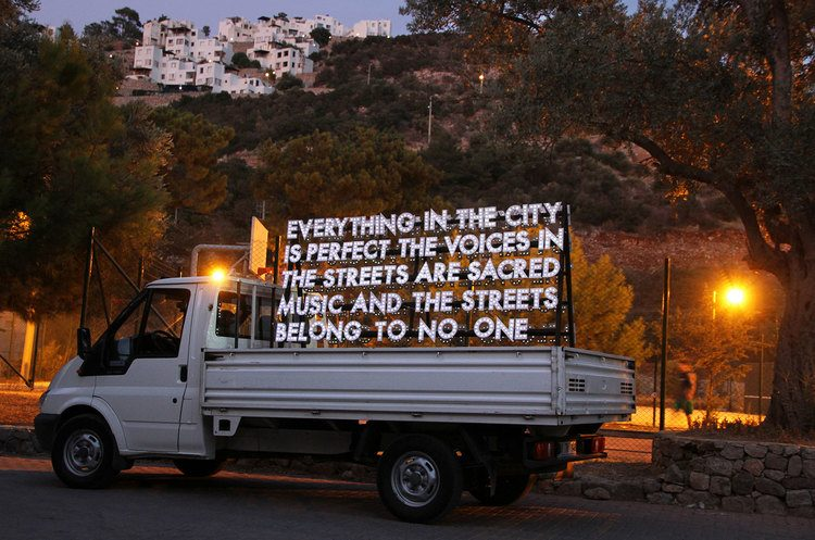Robert Montgomery, POEM FOR THE CITY OF ISTANBUL. Light work. Istanbul. 2011