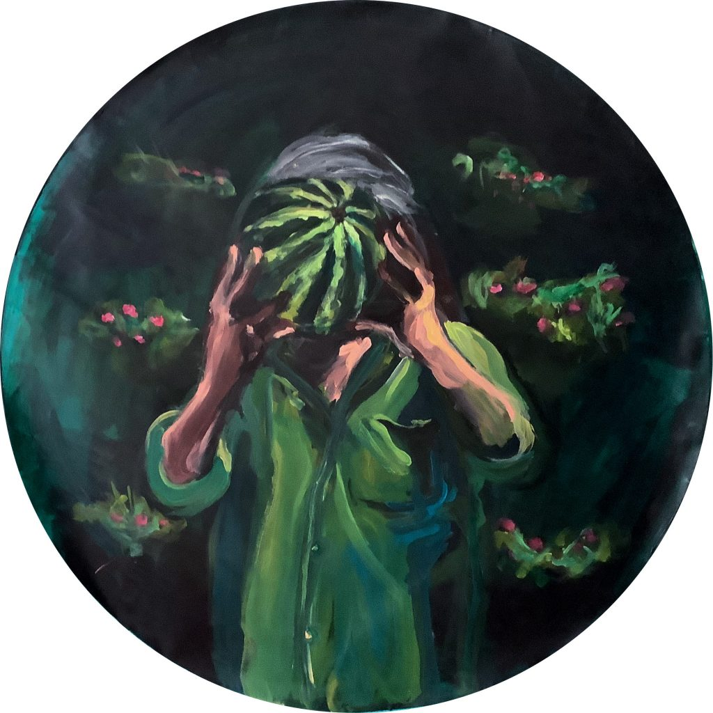 "Yassine Balnzioui ""Green Sight"" (98cm / 38 5/8in) FAD magazine"