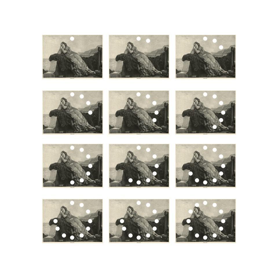 Adeline de Monseignat A Modern Kind of Patience, 2016   12 Punctured Digital Print on Woodstock Paper  Each print 21 x 29cm (framed 24 x 32cm)