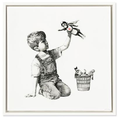 Banksy, Game Changer, oil on canvas, 35.7/8 x 35.7/8in. (91 x 91cm.), painted in 2020Price Realised £16,758,000 / $23,176,314 / €19,422,522