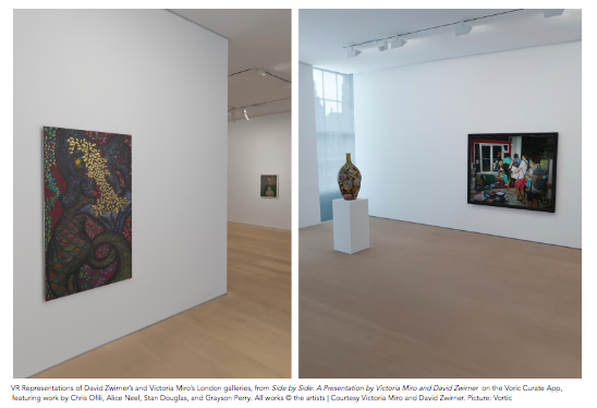 Victoria Miro and David Zwirner are pleased to introduce an extended reality (XR) presentation of significant works by Njideka Akunyili Crosby, Stan Douglas, Alice Neel, Chris Ofili, Grayson Perry, and Franz West