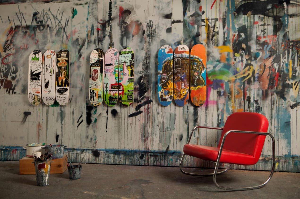 Basquiat art skateboards FAD magazine