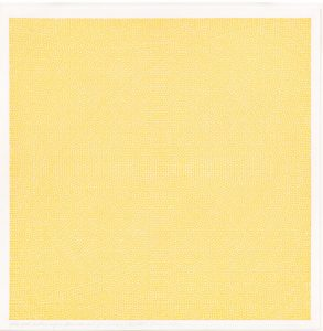 Image: Sol LeWitt, Yellow Grid, Circles and Arcs From Four Sides and Four Cor- ners, 1972, ink on paper, 18 5/8 x 18 9/16 x 1 5/16 inches (47.3 x 47.1 x 3.3 cm). © 2018 The LeWitt Estate / Artists Rights Society (ARS), New York. Courtesy Paula Cooper Gallery, New York and Vito Schnabel Gallery, St. Moritz. Photo: Steven Probert.