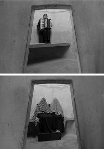 Aníbal González (top), Marisol Montiel and Ana Luisa Montiel (bottom), An Occupation of Loss, Park Avenue Armory, New York (2016). Photos © Taryn Simon