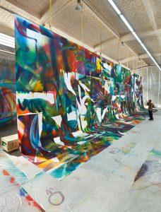 Studio of Katharina Grosse, Berlin, 2018 © Katharina Grosse and VG Bild-Kunst Bonn, 2018. Photo by Jens Ziehe