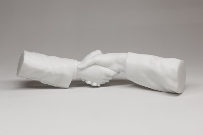 Ai Weiwei, Hands Without Bodies, 2017. Marble. 4.8 x 6.7 x 22.6 inches.