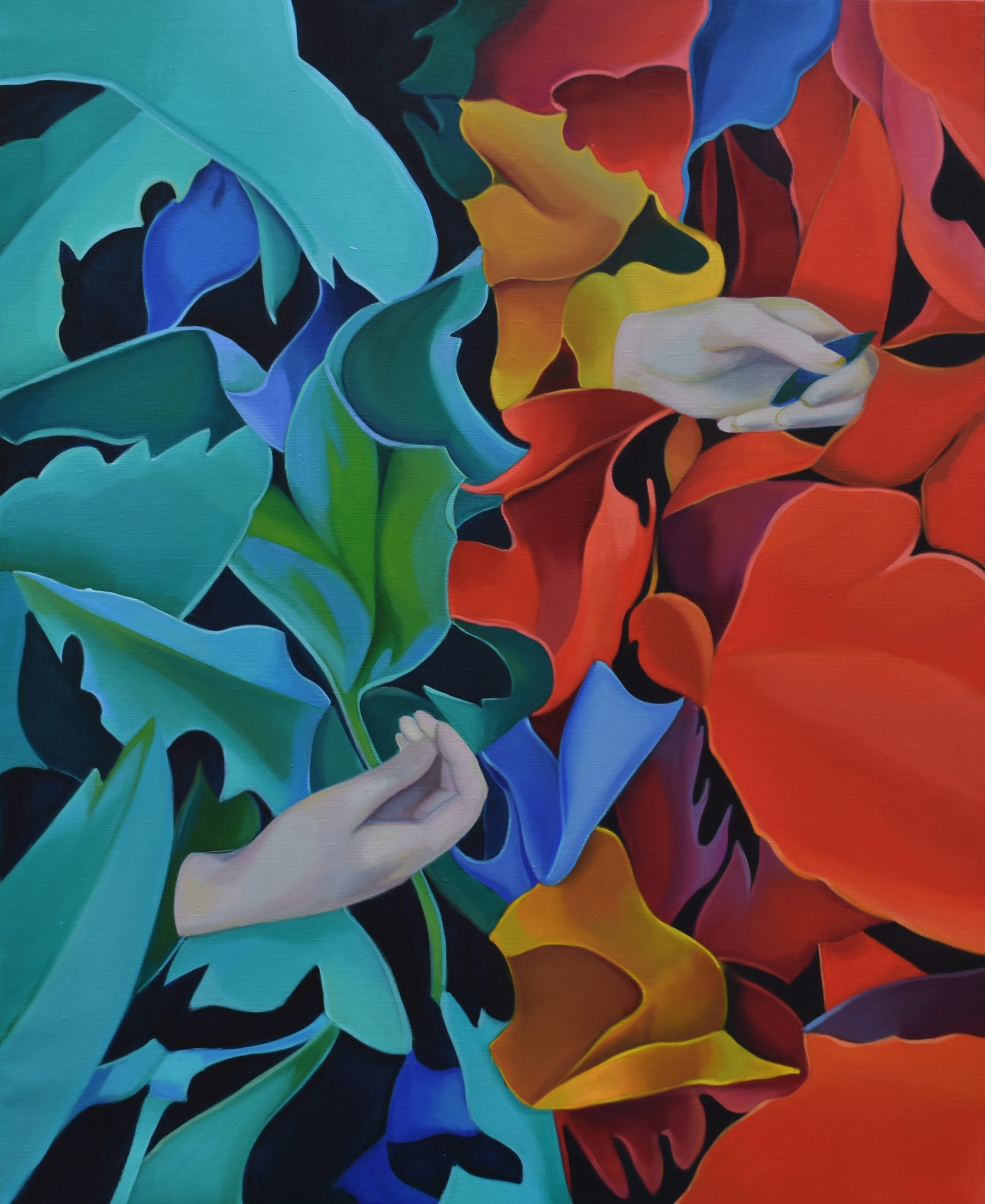 Lorena García Mateu, The opportunity, 2020 (Oil on linen, 130 x 97 cm/ 51 1/8 x 38 1/4 in) FAD magazine