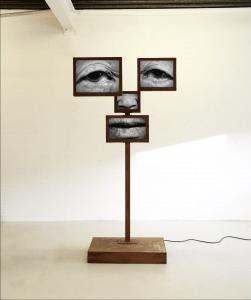 Charlotte Colbert Lee Soon-Kyu, 2017 Corten steel structure displaying moving image 26.5 x 104 x 196.5 cm