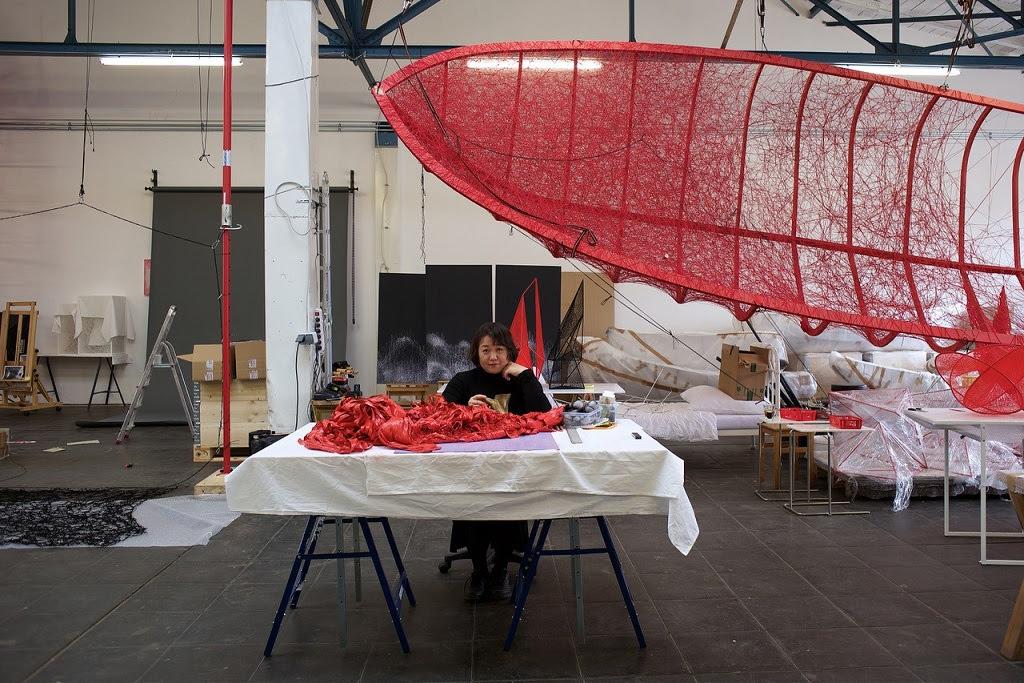 Chiharu Shiota, photo by Sunhi Mang