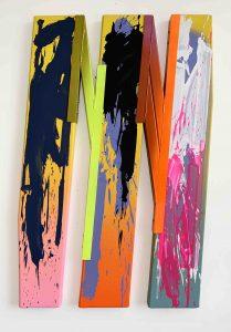 Márton Nemes The Better Self 05 2020 Car paint, steel, acrylic, canvas, wood 132 x 88 cm