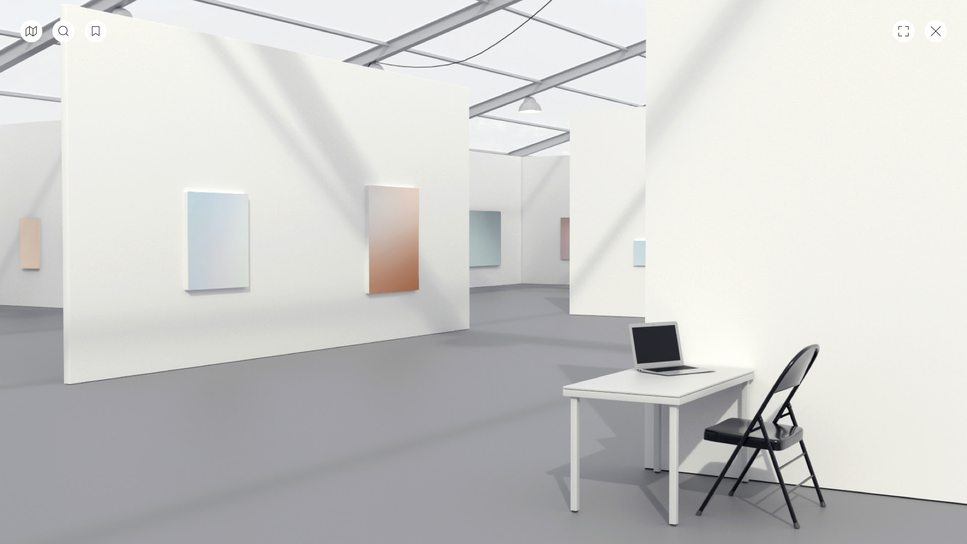 Digital renderings of UNTITLED, ART Online, powered by Artland.