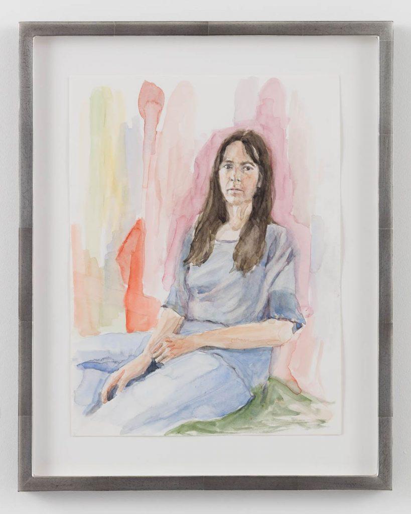 Gillian Wearing, Lockdown Portrait, 2020, watercolour on paper, 39.5 x 31.5 cm FAD magazine