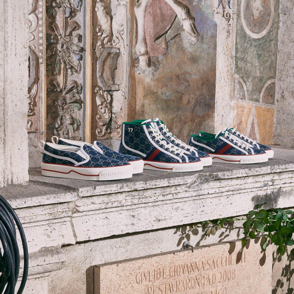 New GG Denim: Gucci Tennis 1977 Sneakers