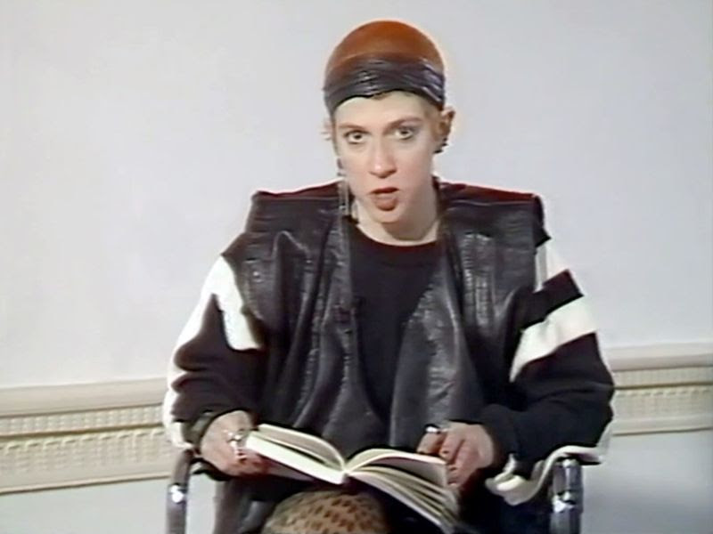 Kathy Acker in conversation with Angela McRobbie at the Institute of Contemporary Arts, 1987. Copyright ICA