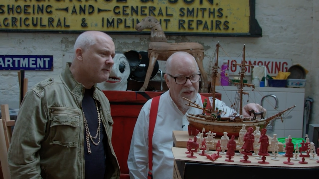 Two old men : Damien Hirst and Peter blake FAD MAGAZINE