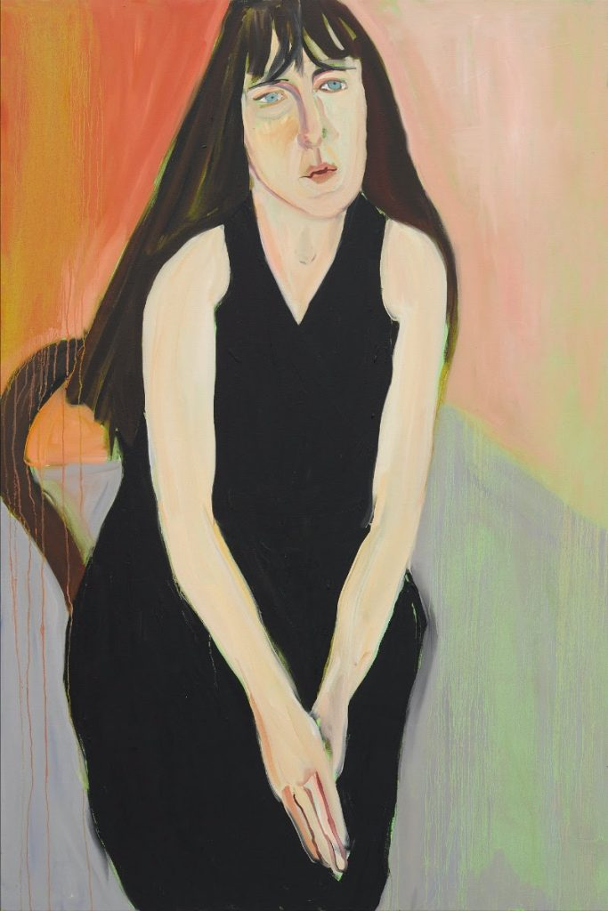 mage: Chantal Joffe, Ishbel in Black, 2018, oil on canvas, 72.05 x 48.03 inches (183 x 122 cm). © Chantal Joffe. Courtesy of the artist and Victoria Miro, London/Venice.