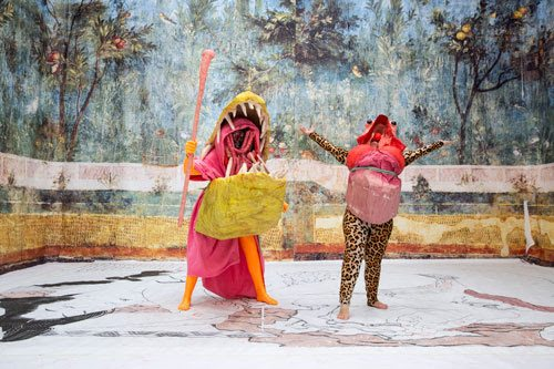Image credit: Marvin Gaye Chetwynd, Uptight Upright Upsidedown, 2016. Courtesy the artist and Sadie Coles HQ, London. Photo by Julia Bauer.