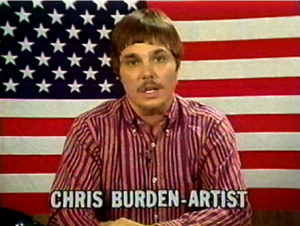 FAD MAGAZINE Chris Burden, The TV Commercials, 1973-1977 | 2000, (still) Edited by Peter Kirby, Media Art Services © Chris Burden / licensed by The Chris Burden Estate. Courtesy Electronic Arts Intermix (EAI), New York