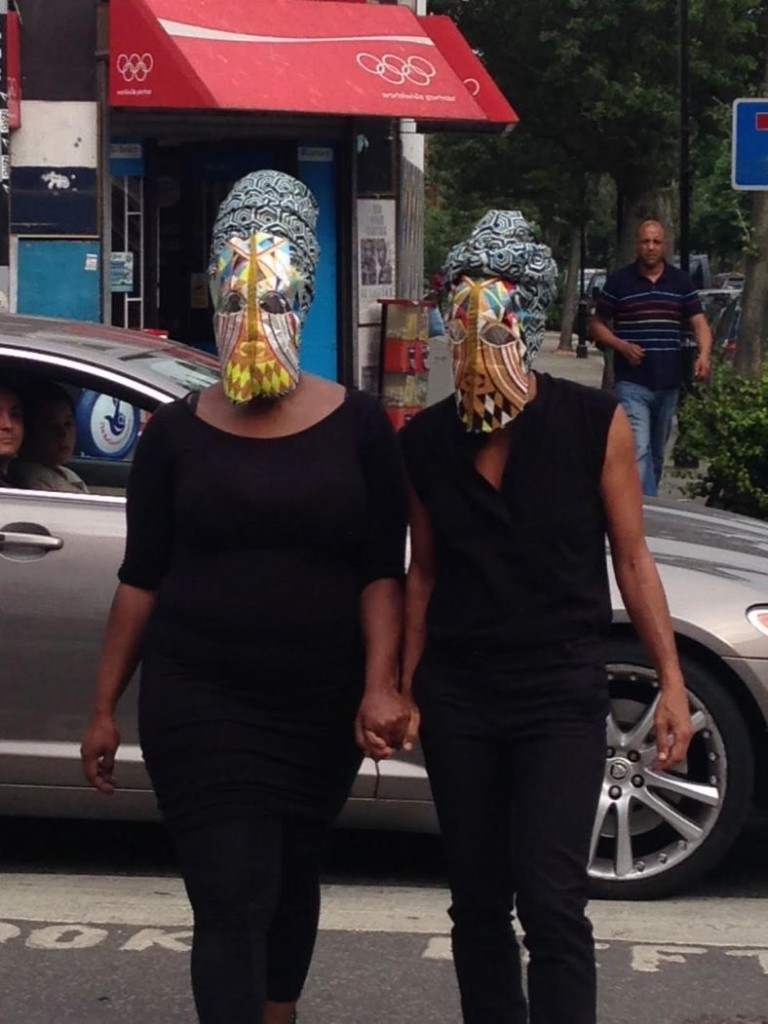 The performance And Fight with Wura-Natasha Ogunji + Mary Okon Ononokpono