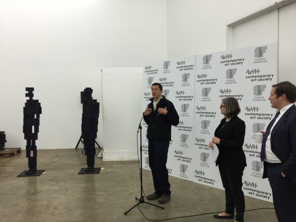 launch of Great Works, a new scheme launched by The Contemporary Art Society (CAS) at Anthony Gormley Studio