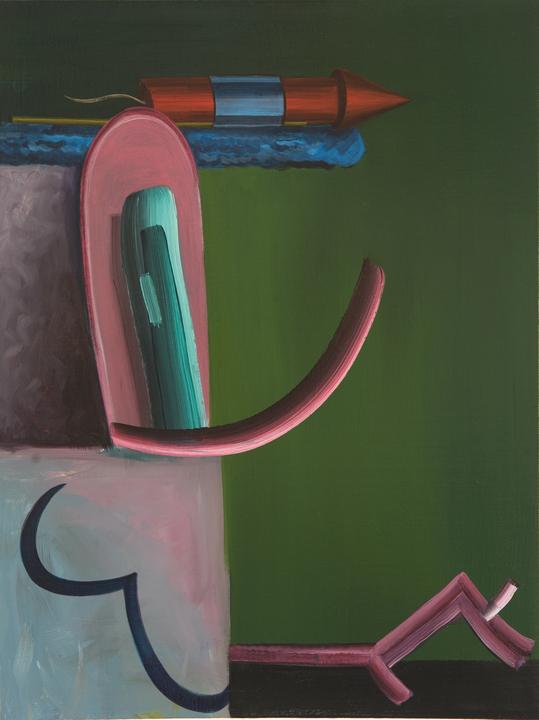 Gorka Mohamed, Rapido, Mas Rapido, 2011, 100x100cm. Acrylic on Linen