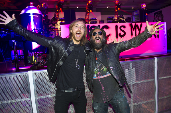 Mr Brainwash and David Guetta
