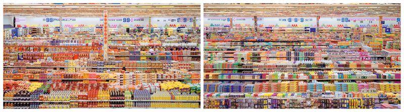 Andreas Gursky 99 Cent II, Diptych, 2001 C-Print Each: 206 x 341 x 6.2 cm © Andreas Gursky/DACS, 2017 Courtesy: Sprüth Magers FAD Magazine