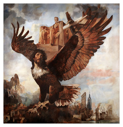 wolfe-von-lenkiewicz-lincoln-eagle-2009-oil-on-canvas-with-gilded-frame-low-res-courtesy-of-all-visual-arts