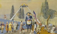 Jim Shaw The Master Mason, 2020 Acrylic on muslin