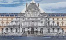 JR at the Louvre, La Pyramide, 2016, 2 color photographs. 100 × 100 cm | 39 3/8 × 39 3/8 in. Photo: Claire Dorn. Courtesy the Artist and Perrotin. ©Claire Dorn, © JR-art.net