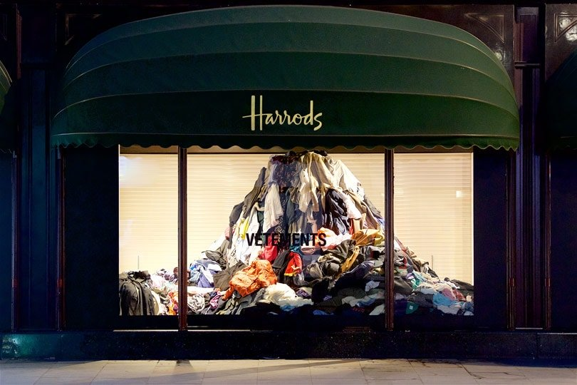 VETEMENTS + HARRODS + FAD MAGAZIINE