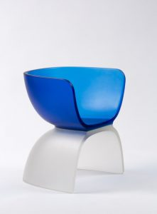 Marc Newson, Chair, 2017 Cast glass, 29 ? × 27?¼ × 21 ? inches (74 × 69 × 55 cm) © Marc Newson